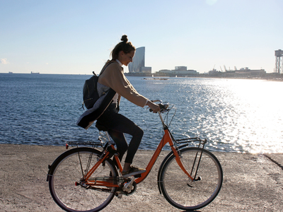 Rental bike by the beach, Bogatell - Barcelona