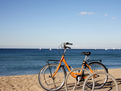 Rental bike at Barceloneta