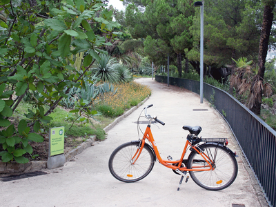 Rental bike at Montjuïc