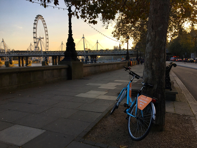 Rental bike in London, South Bank
