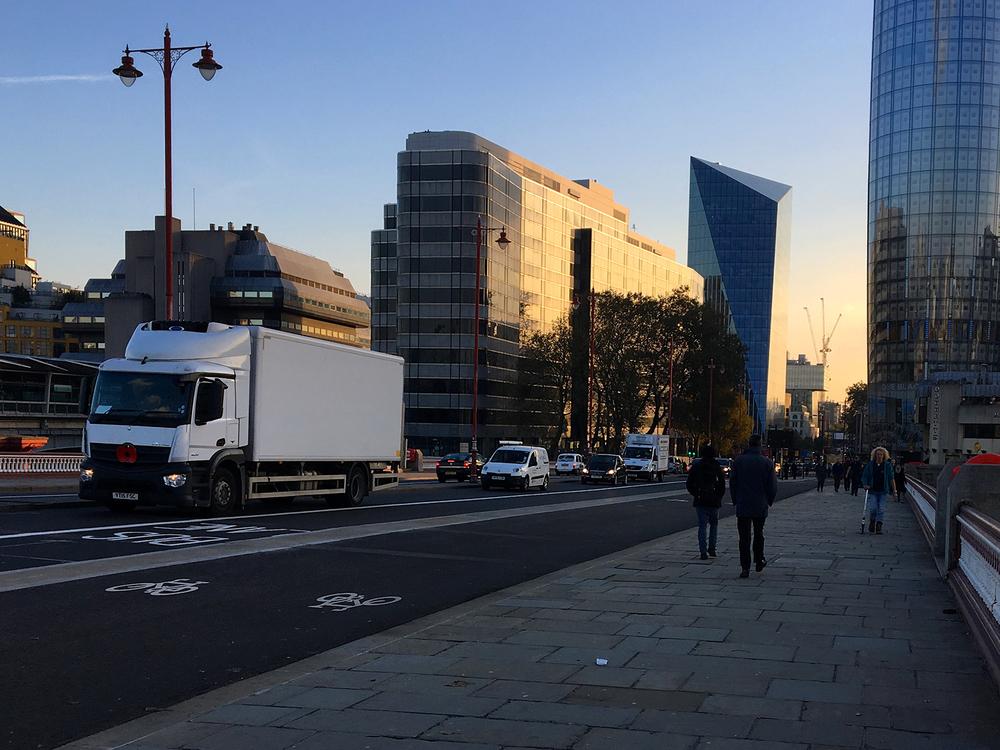 Bike lanes in London